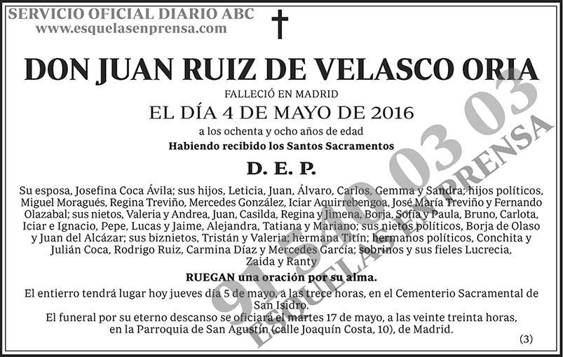 Juan Ruiz de Velasco Oria